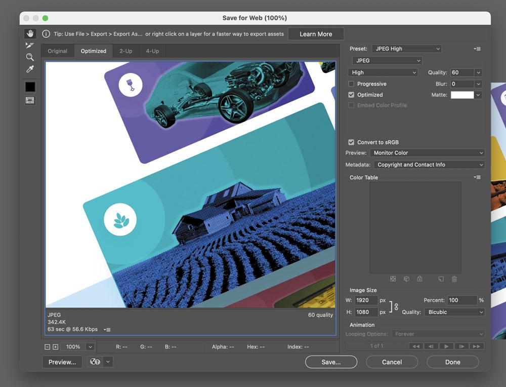 بهینه سازی تصاویر سایت با فتوشاپ