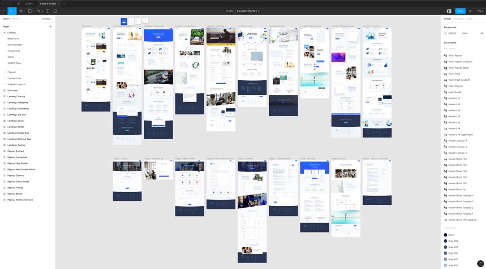 طراحی UI وبسایت در نرم افزار فیگما
