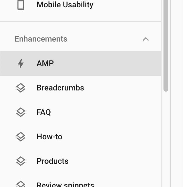 Enhancements > AMP