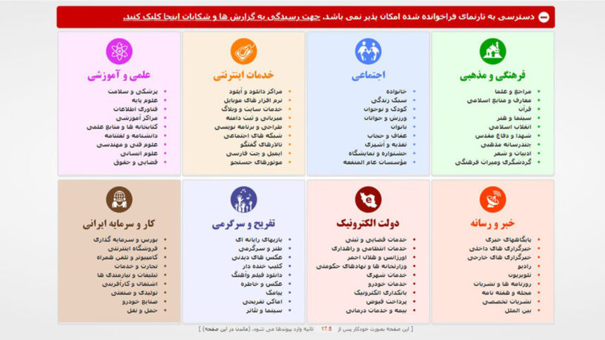 جلوگیری از فیلتر شدن سایت در ایران و ثبت در ساماندهی