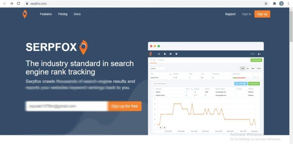 استفاده از سایت Serp fox برای مشخص کردن جایگاه صفحات در گوگل